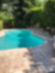 Pool deck concrete