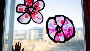 "Tissue Paper ""Stained Glass"" Flowers"