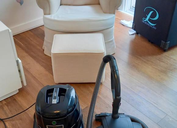 Higienização de poltrona e sofá (depois)