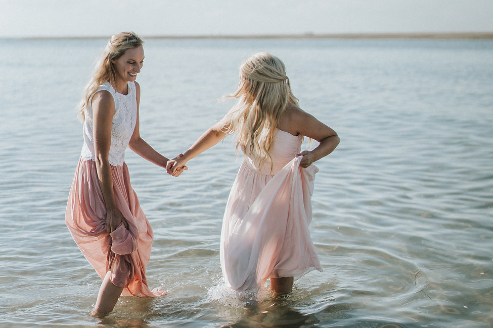two brides in the english ocean