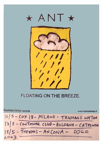 ANT tour poster Italy 2003 Homesleep
