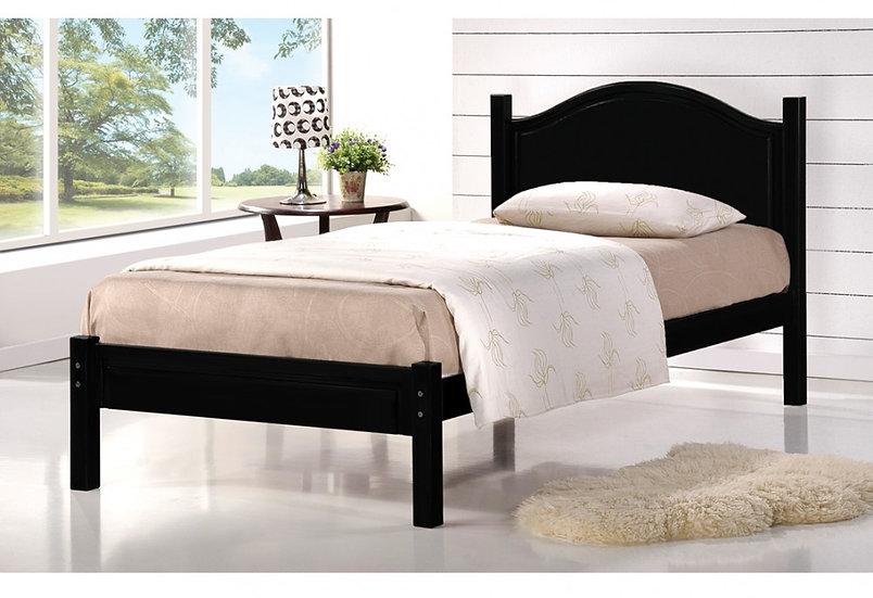 Wooden Platform Bed ~ Dark Espresso