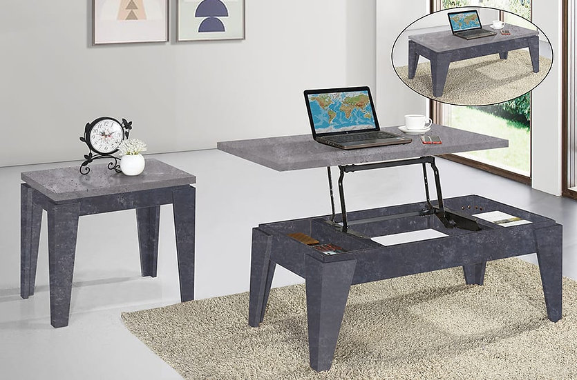 3 Piece Coffee Table Set, Coffee or End Table Wooden ~ Walnut