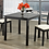 Thumbnail: 3 Piece Wood Upholstered Dining Set ~ Espresso