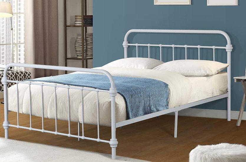 Metal Platform Bed ~ White
