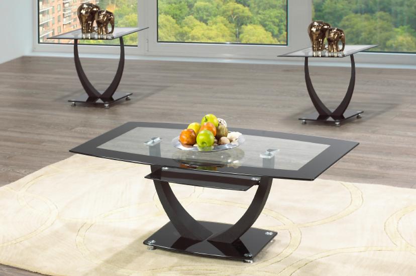 3 Piece Coffee Table Set ~ Glossy Chrome