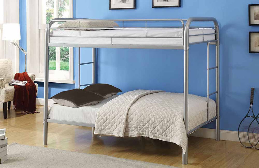 Metal Bunk Bed Twin over Twin | Grey