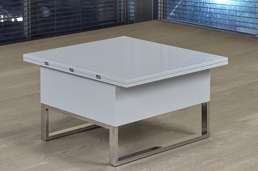 Expandable Coffee Table ~ Grey & Chrome