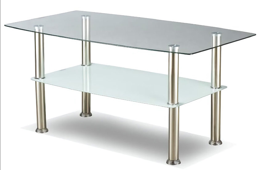 Coffee Table Glass & Metal - Chrome