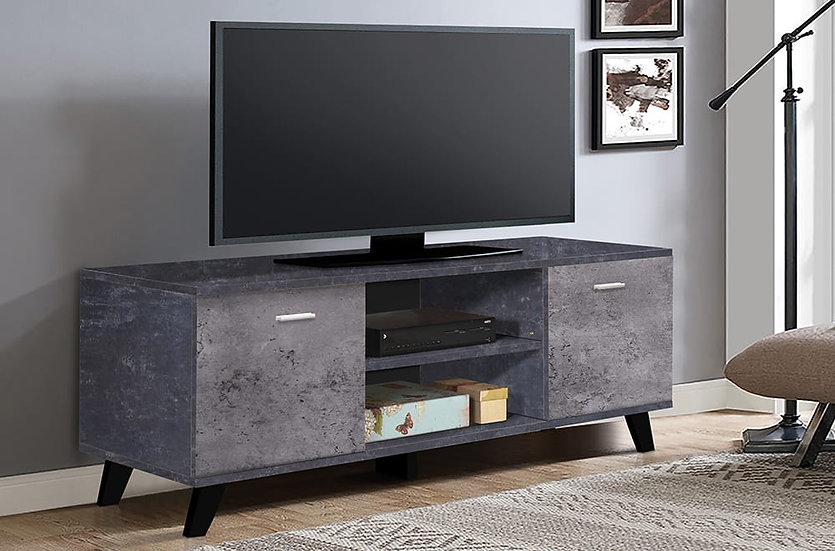 Wooden TV Stand ~ Grey Finish
