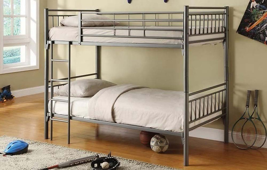 Convertible Twin over Twin Bunk Bed | Grey