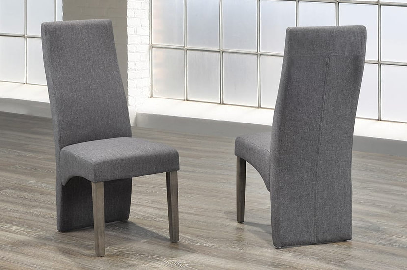 Linen-Style Fabric Chair - Grey