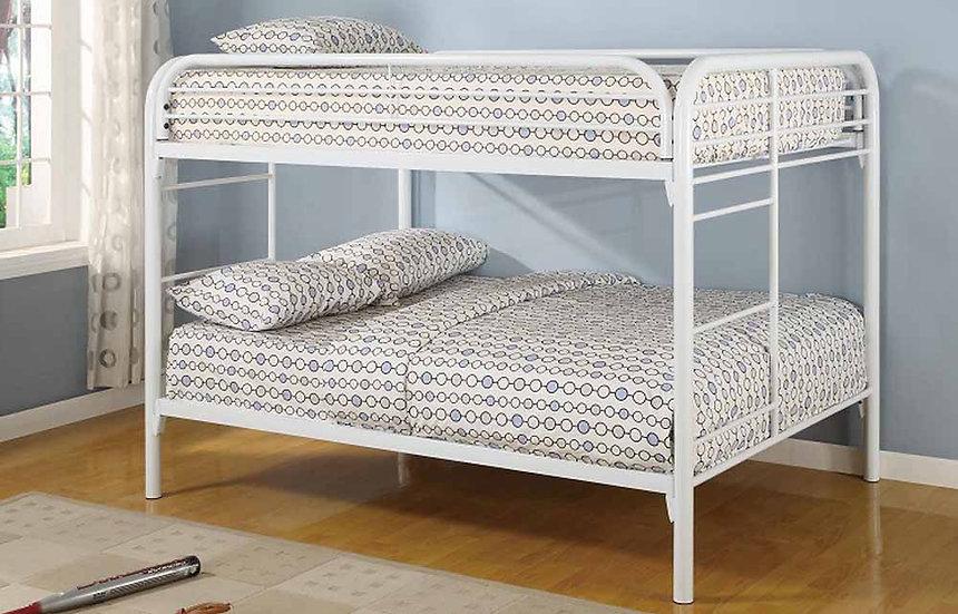 Metal Full over full Bunk Bed | White
