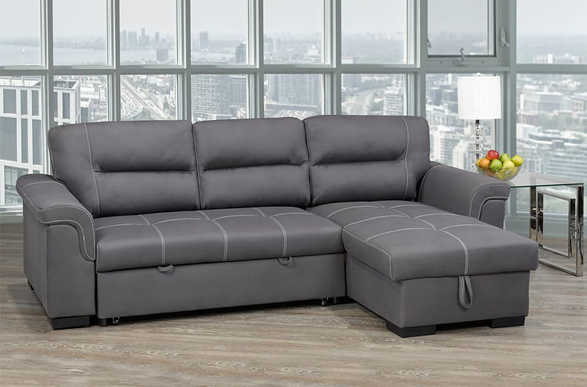 Sofa Pull Out Bed ~ Grey