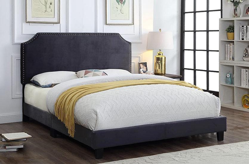 Fabric Upholstered Platform Bed ~ Charcoal