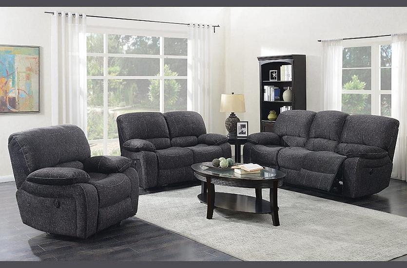 3 Piece Recliner Sofa Set ~ Grey