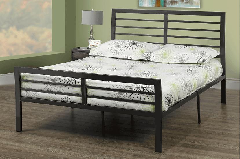 Metal Platform Bed ~ Charcoal