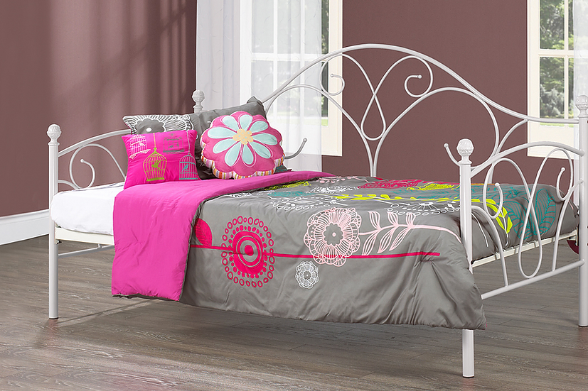 Metal Day Bed ~ White