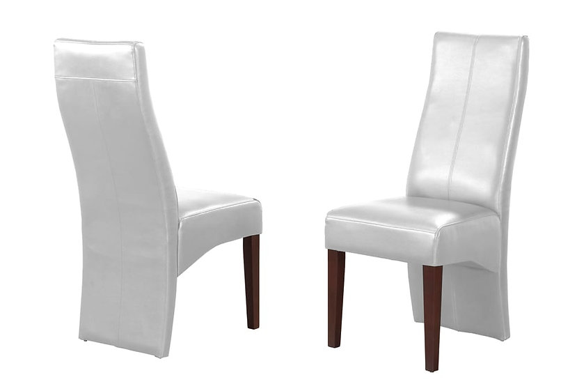 Bonded Leather Chair - White
