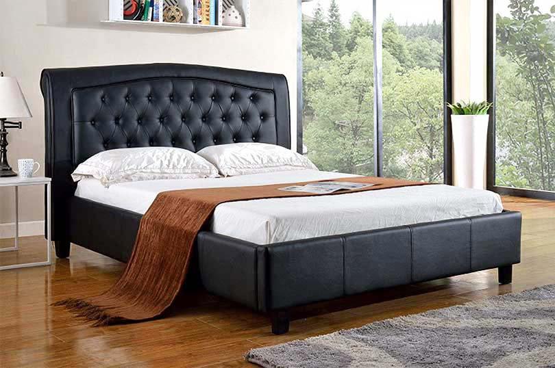 PU Platform Bed ~ Black