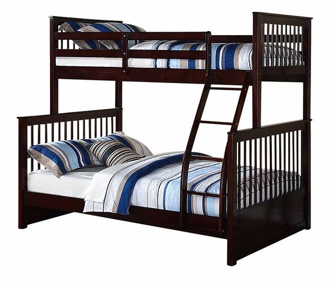 Twin over Full Size Loft Bunk Bed | Espresso