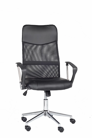 Bonded Leather Chair - Black
