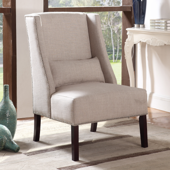 Fabric Accent Chair ~ Beige