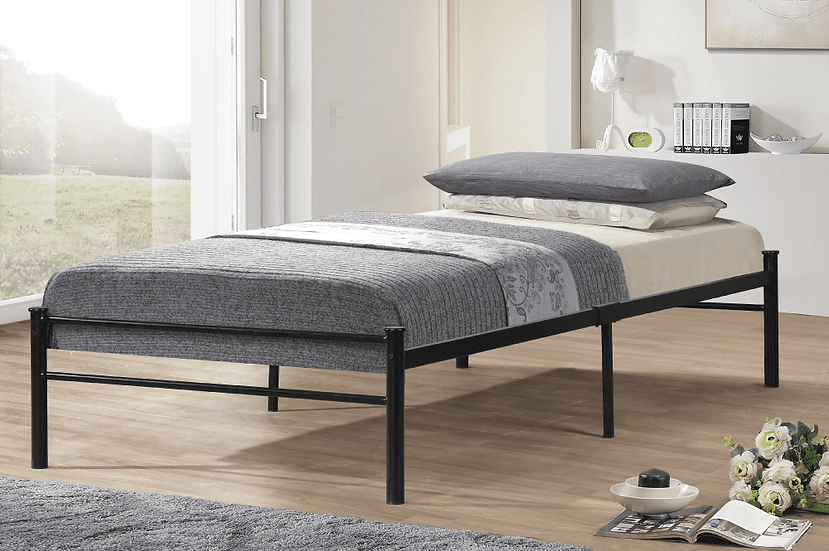 Metal Platform Bed ~ Black