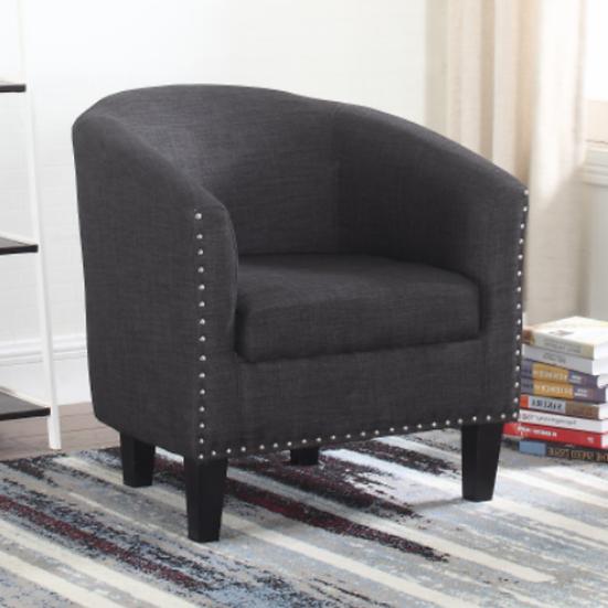 Fabric Tub Chair ~ Grey