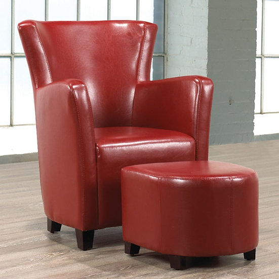 Easy Chair & Ottoman ~ Red