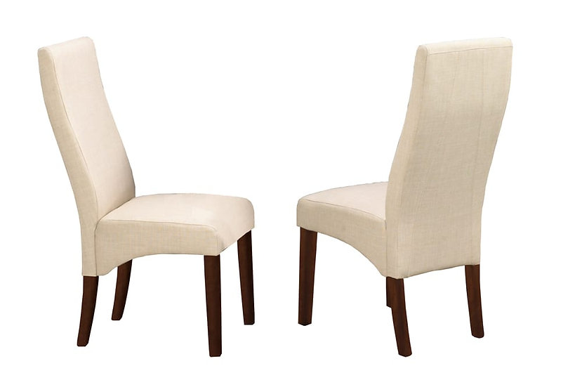 Linen-Style Fabric Chair - Beige