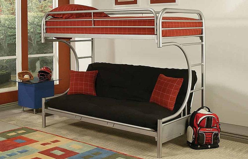 Metal Futon Bunk Bed Frame | Grey