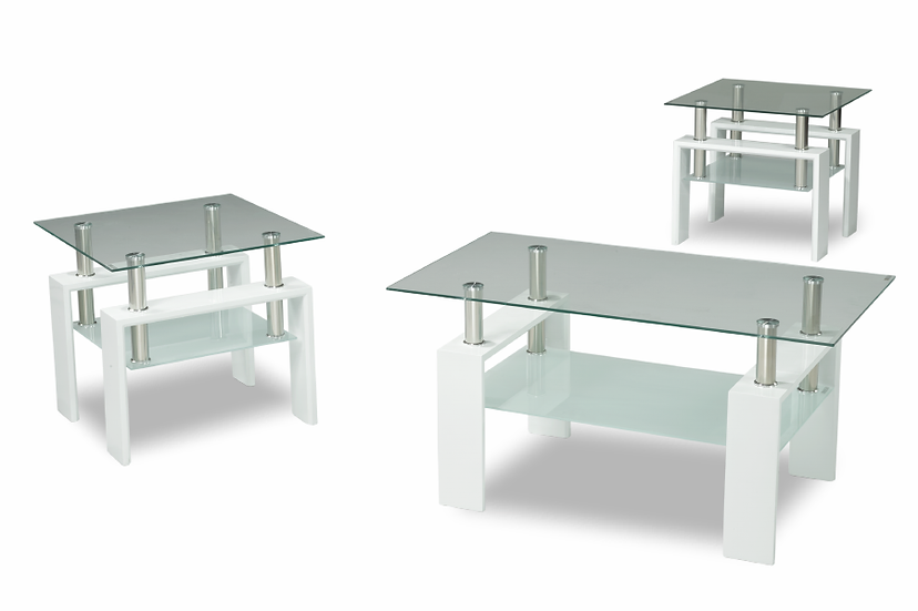 3 Piece Coffee Table Set or Coffee Table ~ Glossy White