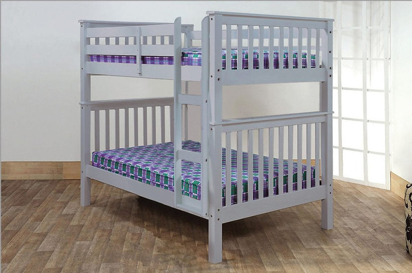 Full over Full Bunk Beds that Separate   Grey