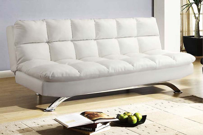 Leatherette Sofa Bed  ~ White