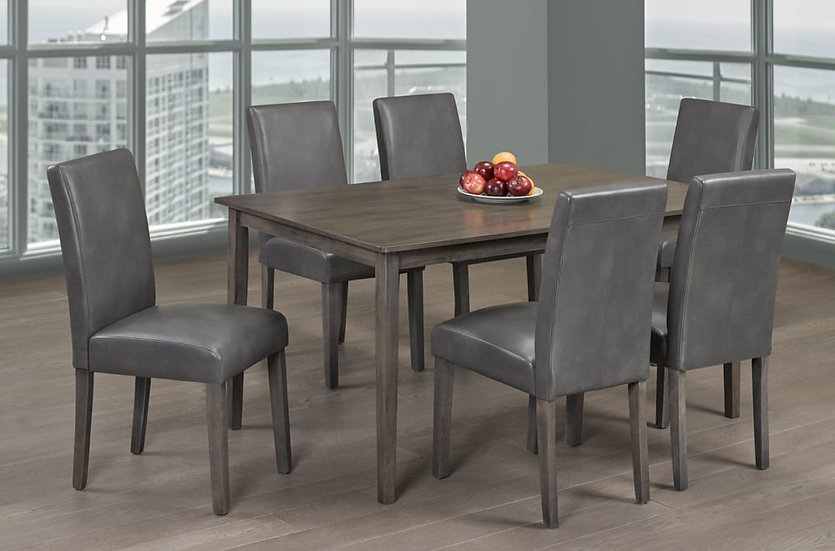 7 Piece Dining Set | Grey Dining Chairs