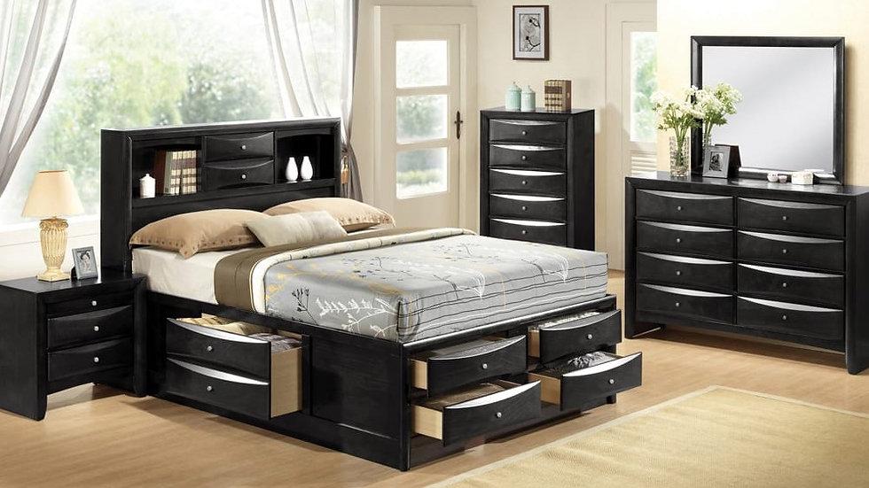 Felicia Platform Storage Bedroom Set Black