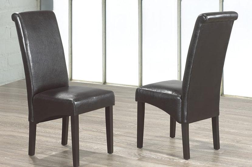 Leatherette Chair - Espresso