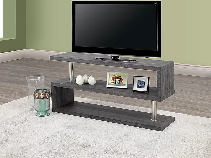 Wooden TV Stand ~ Grey