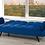 Thumbnail: Velvet-Style Fabric Sofa Bed  ~ Royal Blue