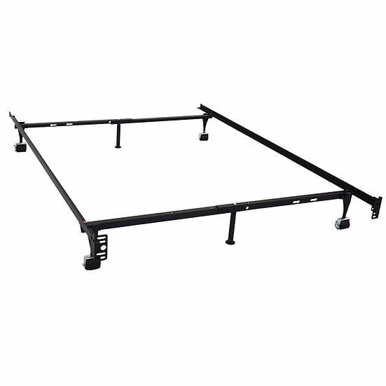 Wheels/Glides Metal Bed Frame - Single/Double/Queen