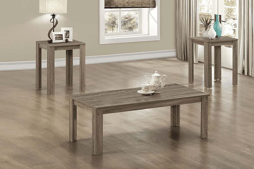 3 Piece Wooden Coffee Table Set ~ Grey