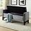 Thumbnail: Velvet Fabric Storage Bench ~ Grey