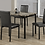 Thumbnail: 5 Piece Faux Marble Dining Table and Chairs - Black
