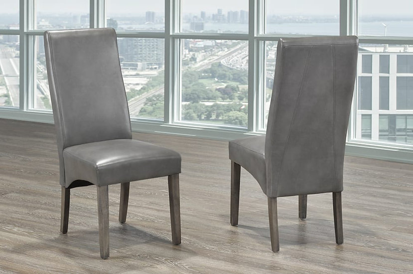 Bonded Leather Chair - Grey