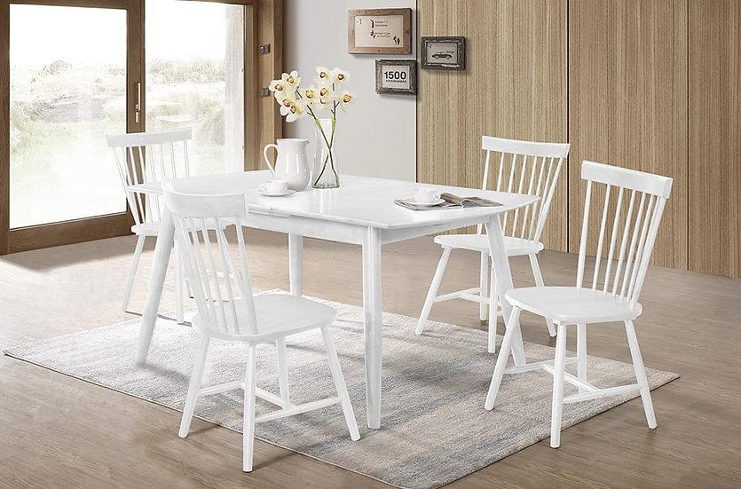 5 Piece Wood Dining Set ~ White