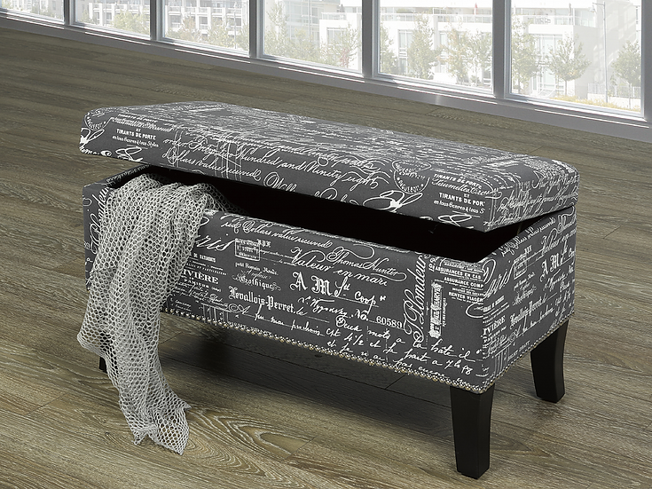 Script Fabric Storage Bench ~ Grey