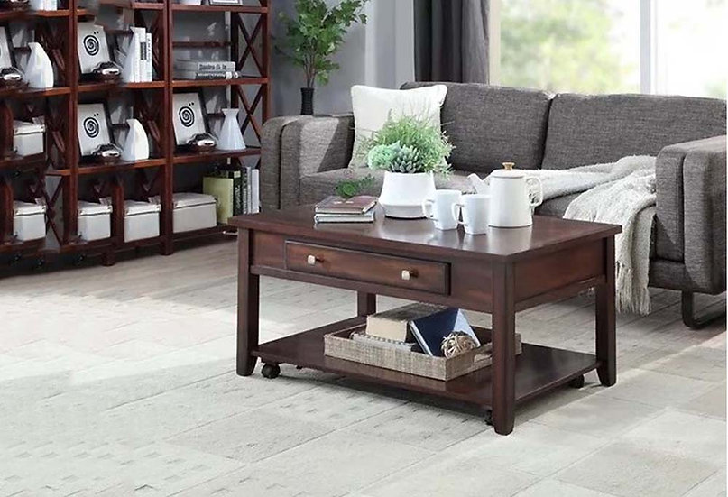 Wooden Lift Top Coffee Table ~ Espresso