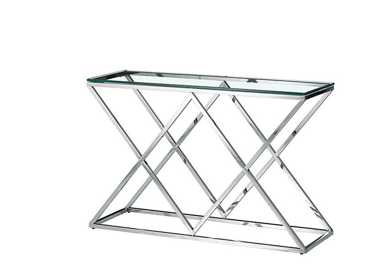 Sofa Table Glass & Metal