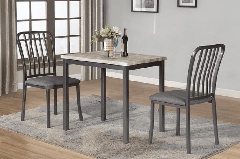 3 Piece Dining Set ~ Grey